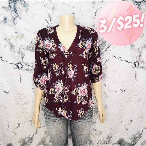 💖3/$25💖 SWS Floral Shirt Women Size Medium